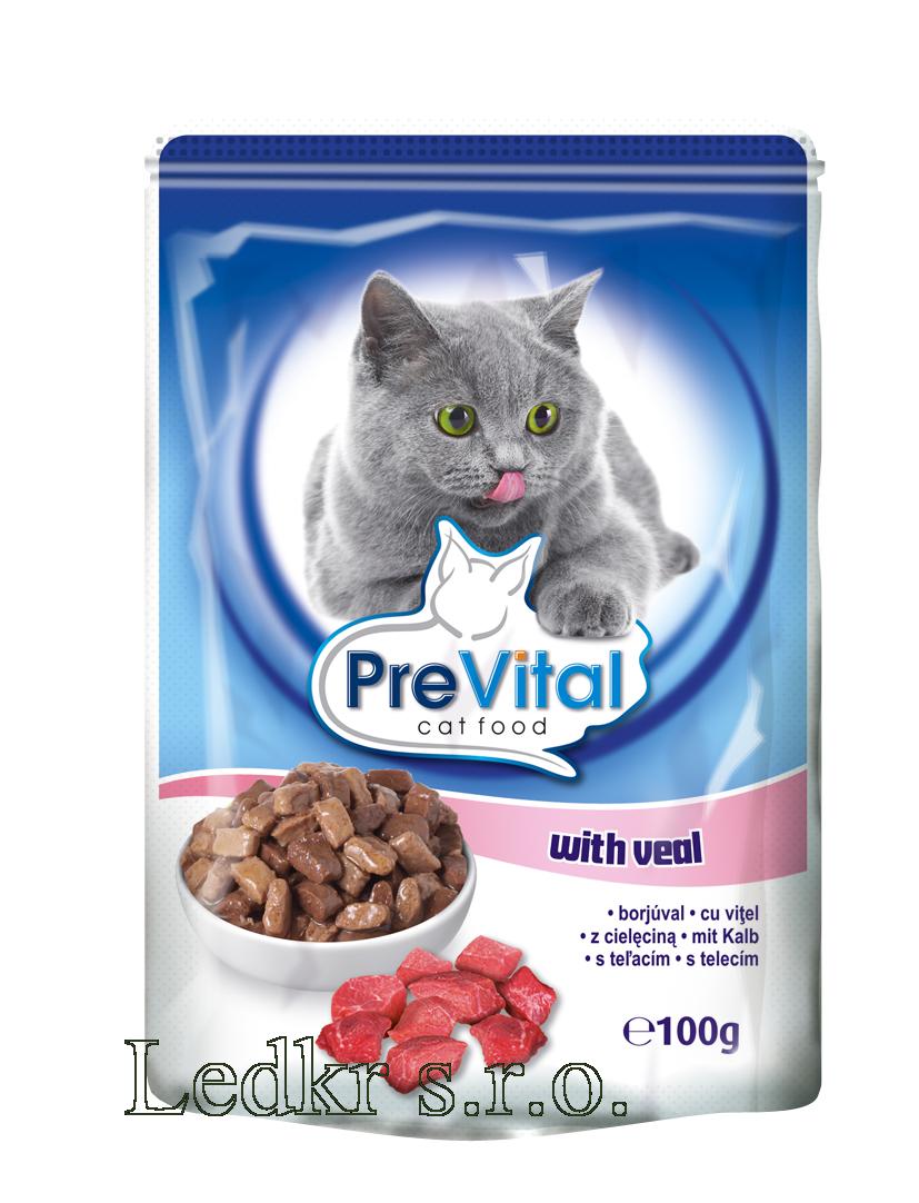 PreVital kapsa kočka - telecí 100g /24/