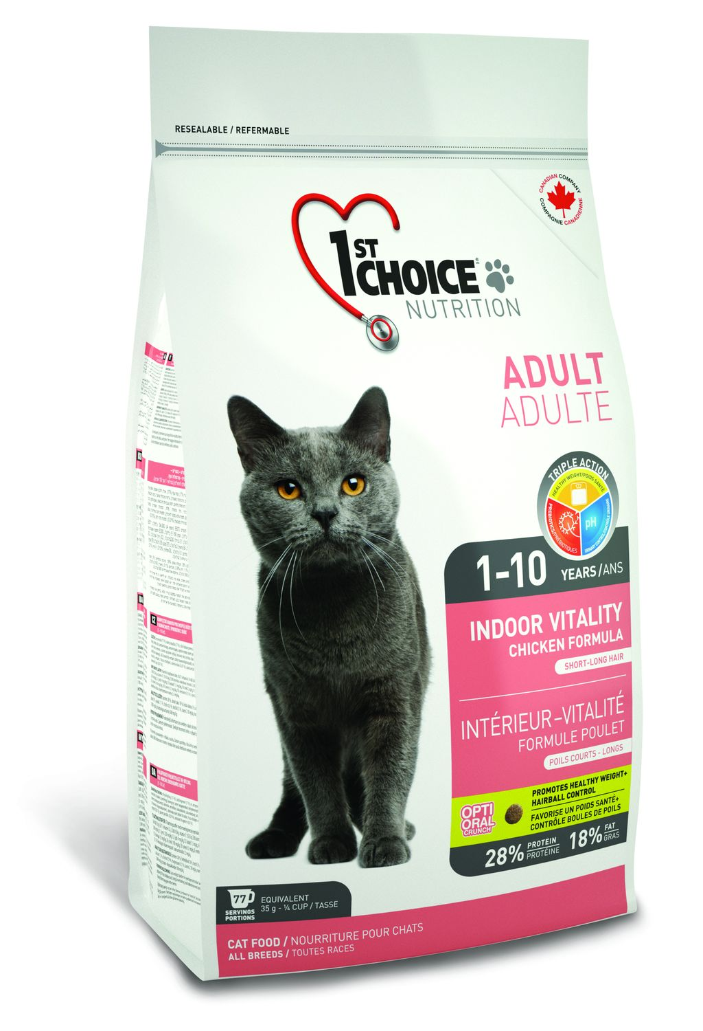 1st choice cat 2,72kg Indoor vitality