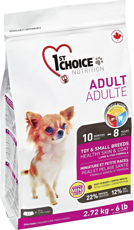 1st choice adult toy - zdravá kůže a srst - jehně se sleděm 2,72kg