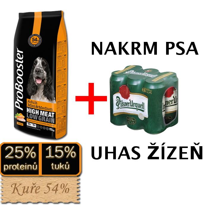 ProBooster Adult Mini & Medium 15kg + 6 piv ZDARMA
