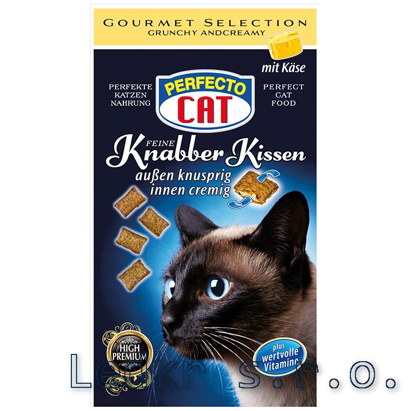 Perfecto Cat Knabbber polštářky se sýrem 50g