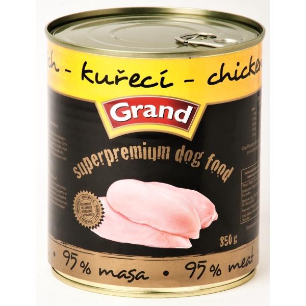 Grand Super Premium pes kuřecí 850 g /6/