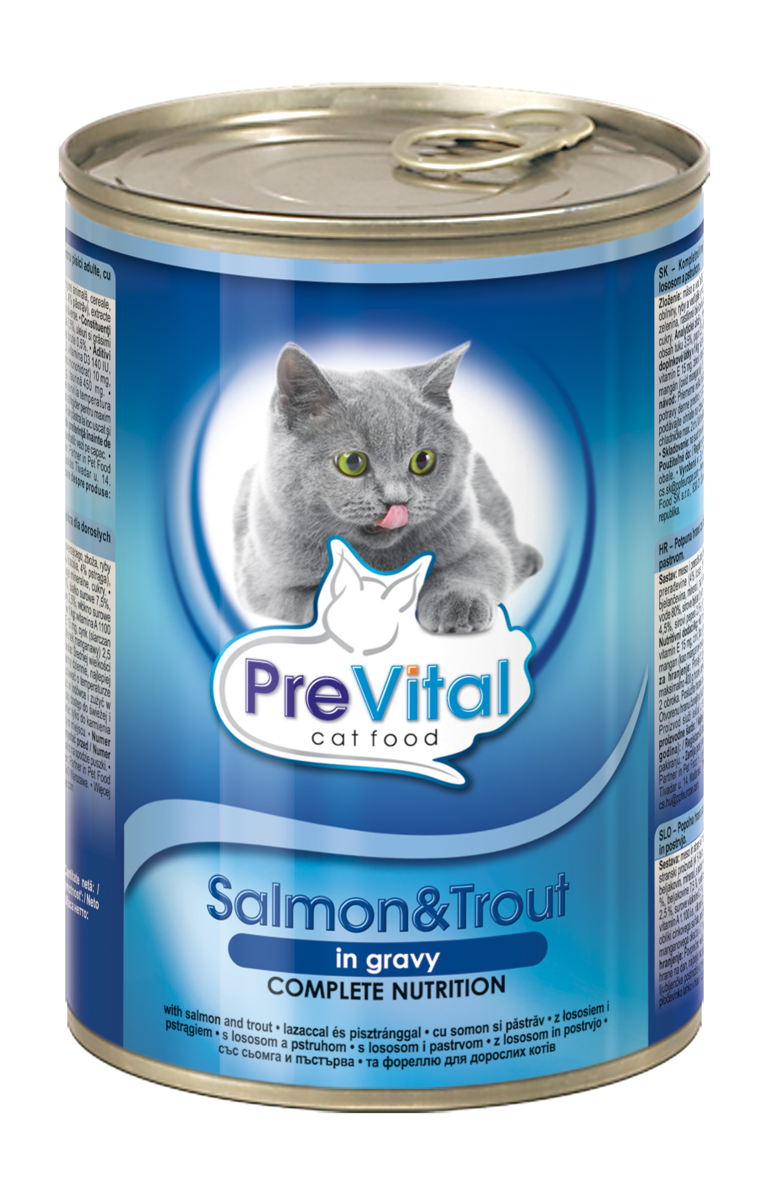 PreVital kousky kočka losos+pstruh v omáčce 415g /12/