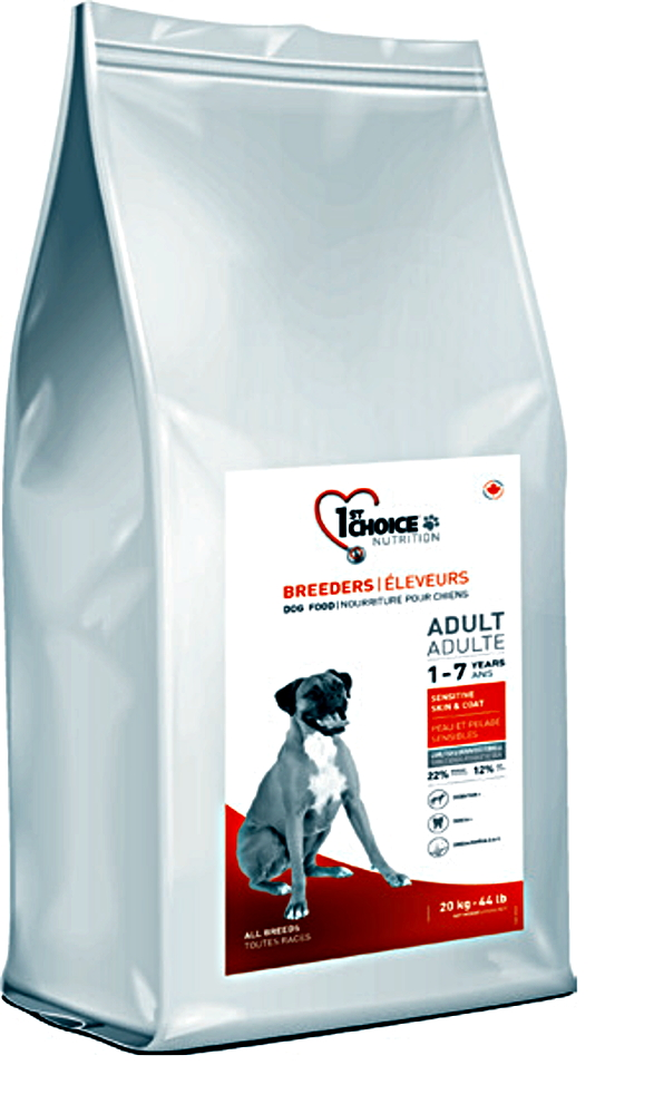 1st choice adult Sensitive skin & coat jehněčí a ryby 20kg