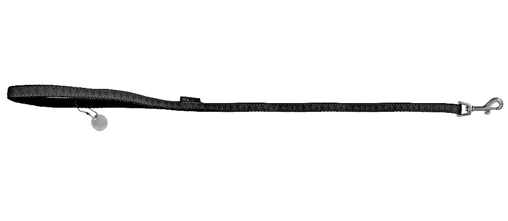 Vodítko Macleather Dog 120 cm/15mm černé