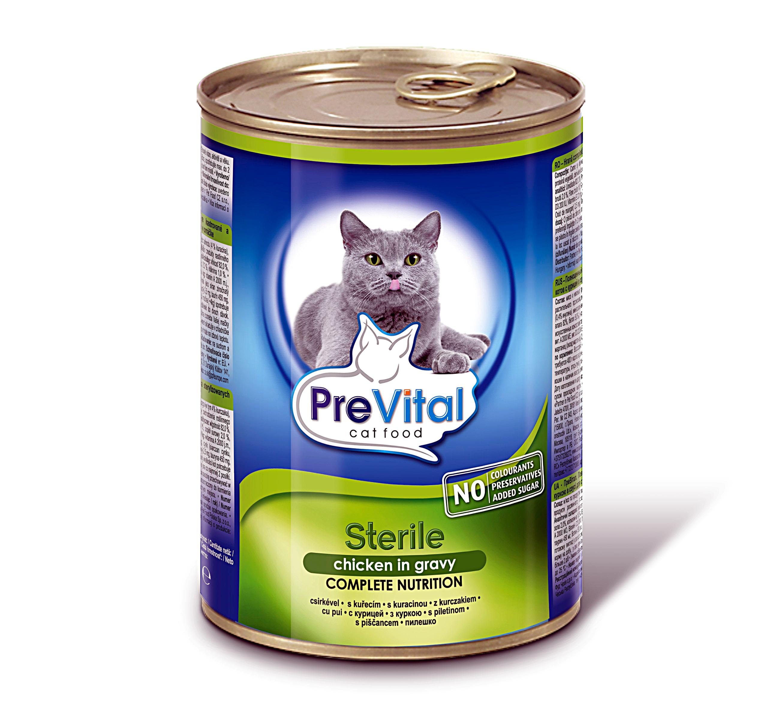 PreVital kousky kočka kuřecí sterile 415g /12/