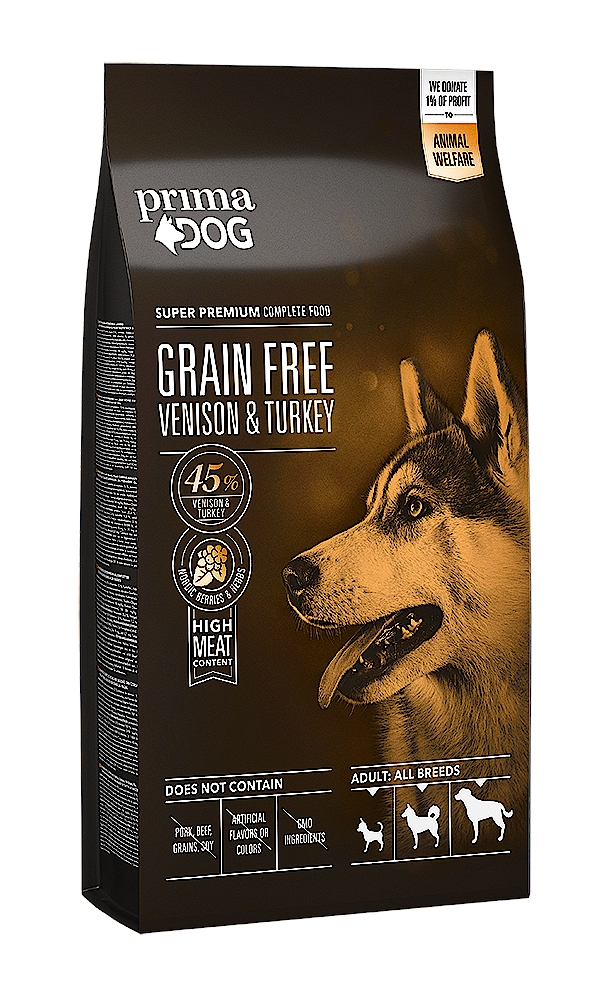 PrimaDog Adult All Breeds Venison & Turkey Grain Free 1,5kg