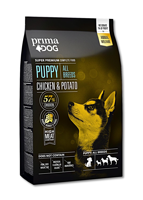 Prima Dog Puppy All Breeds Chicken & Potato 10kg